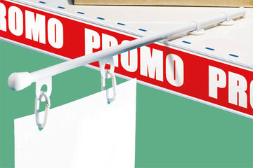 Banner hangers and header holders