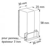 Magneetblok voor paneelhouder rechte presentatie 90°_