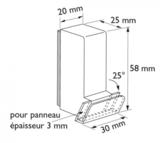 Magnetisch blok paneelhouder schuine presentatie _
