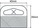 Delta 40x35mm standaard tape 1000 st_