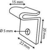 Plafonbevestiging 22x20mm_