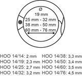 Broken ring - metal - ø14mm - thickness 2.3mm_