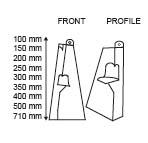 Kartonnen kaartsteunen  - Enkele voet - 400mm_