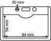 Pochette porte-badge Horizontale en PVC met ophangoogje en steunvoetje - Formaat 94x54mm_