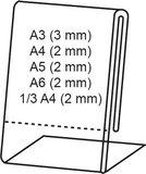 Kaarthouder  - PET - Formaat A4 - Transparant_