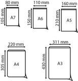 Zelfklevende pochette met korte zijde open  - PP - Formaat A3 - Transparant_