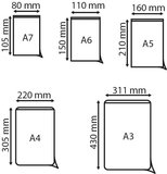 Zelfklevende pochette met korte zijde open  - PP - Formaat A6 - Transparant_