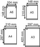 Elektrostatische pochette   - PVC - Formaat A4 - Transparant_