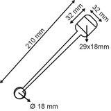 Wobbler  - PET - Afmeting32x210mm - Dikte 380µ - 2 permanente kleefpads - Transparant_