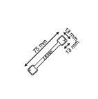 Flexibele Wobbler  - Aluminium - 2 permanente kleefpads 13x13mm - Lengte 75mm_