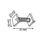 Springwobbler  - 2 Permanente kleefpads 20x20mm - Lengte 37mm_