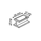 Afstandshouder  - PP - 2 Permanente kleefpads 13x26mm - Hoogte 15mm - Wit_