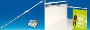 Magnetische bannerhouder in aluminium  + verschuifbare haken
