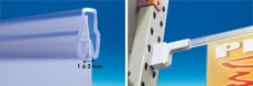 Klemprofiel voor magnetische / zelfklevende voet