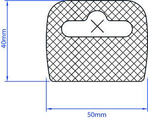 Euroslot 50x40mm standaard tape 1000 st