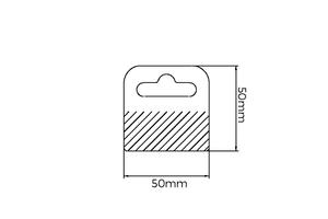 Euroslotslot - pet380µ - dim.50x50mm - adhésif standard23mm