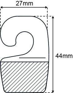 Haak 28x36mm standaard tape 1000 st