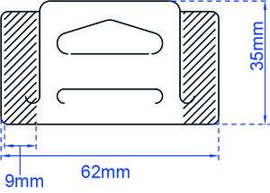 U tab deltaslot 32x62mm-1000