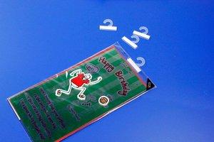 Haak pp - formaat 36x31mm - standaard tape easy peel