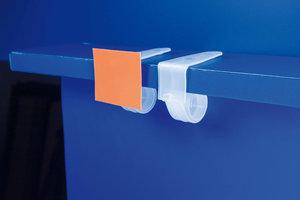 PVC klem voor schap met tape - 70x30x28mm