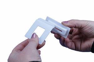 Montagehoek  - formaat 47x55mm - voet formaat 26x65mm - 90° - wit