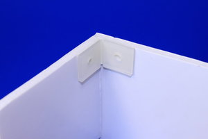Zelfklevende scharnier  - formaat a en b 20x20 - øperf.5mm