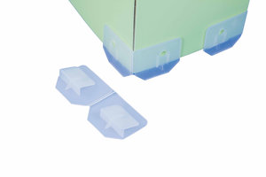 Vertselbare displayvoet - Hoogte: 11mm - Transparant