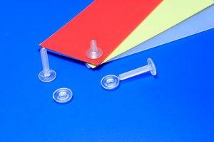 Permanant drukklip - ø5mm - tube lengte12mm - transparant