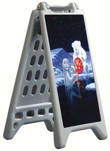 Magnetische stoepboard met recto/verso  - max. voet cap. 5liters - waterproof - size 325x570mm