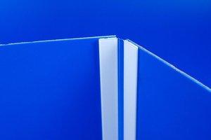Scharnierprofiel - Hoogte 1000mm - permanente tape