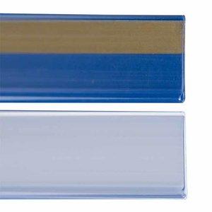 Zelfklevende prijskaarthouder - wit-26x1330 mm