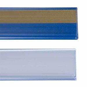 Zelfklevende prijskaarthouder - transparant - 30x1000 mm