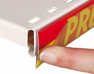 Prijskaarthouder tape front stop -40x1325mm