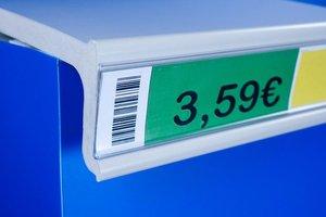Prijskaarthouder met tape  - pvc - profiel hoogte 55mm - lengte 1000mm - label hoogte 52mm - transparant