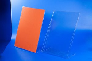 Verticaal kaarthouder  - pet - size a5 - transparant