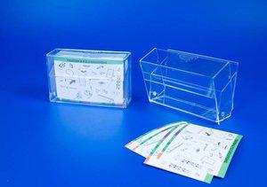 Kaarthouder voor visitekaartjes - ps - formaat 90x37mm - transparant