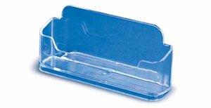 Kaarthouder voor visitekaartjes - ps - formaat 26x110x55mm - transparant