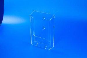 Folderbakje met 2 ophangoogjes  - ps- formaat a5 - transparant