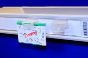 Couponhouder  - pp - capaciteit 8mm - foam tape - supergrip - transparant