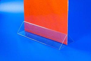 Kaarthouder  - pvc - formaat a5 - transparant