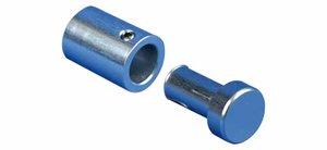 Muurbevestiging met gat - van 2 tot 12mm - Ø18,5mm