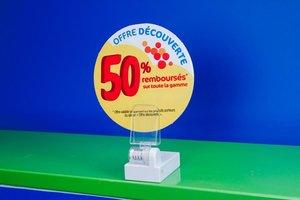 Magnetische bannerhouder met verstelbare transparante klem. 38x61mm - transparant