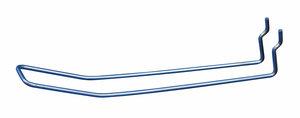 Dubbele haak in metaal voor perfowand - Tussenafstand: 25 tot 30 mm - 300 mm