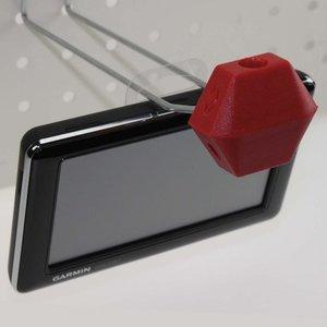 Diefstalbeveiliging  voor dubbele haak - pp - capacity  min 6mm max.8mm - rood