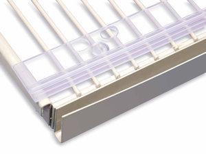 Transparante clip voor rail voor draadschap - Ø12mm