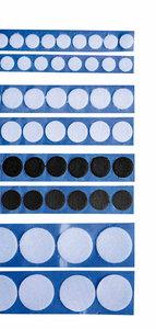 1000 pads Klittenband Lus - 22mm - wit