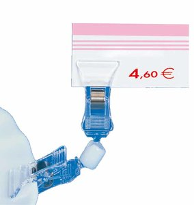 Double pince orientable  - ps - longueur 92mm - transparent