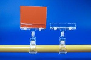 Buisklem met scharnier - Arm: 12mm - transparant