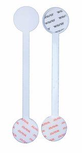 Wobbler déformable en métal  - 3 adhésifs permanent - longueur 90mm - blanc