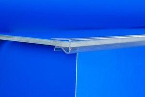 Klemprofiel ter bescherming in transparante kunststof  - lengte 300mm - capaciteit 6mm